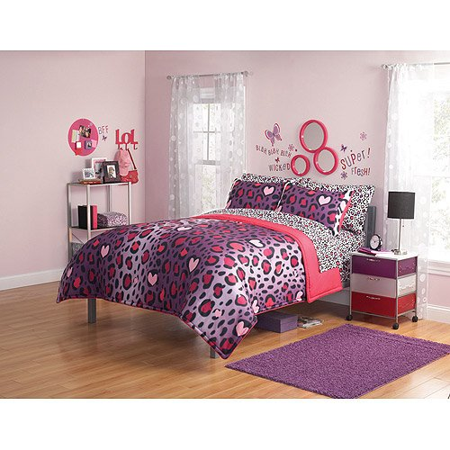 fab purple zebra cheetah and leopard print comforter bedding sets
