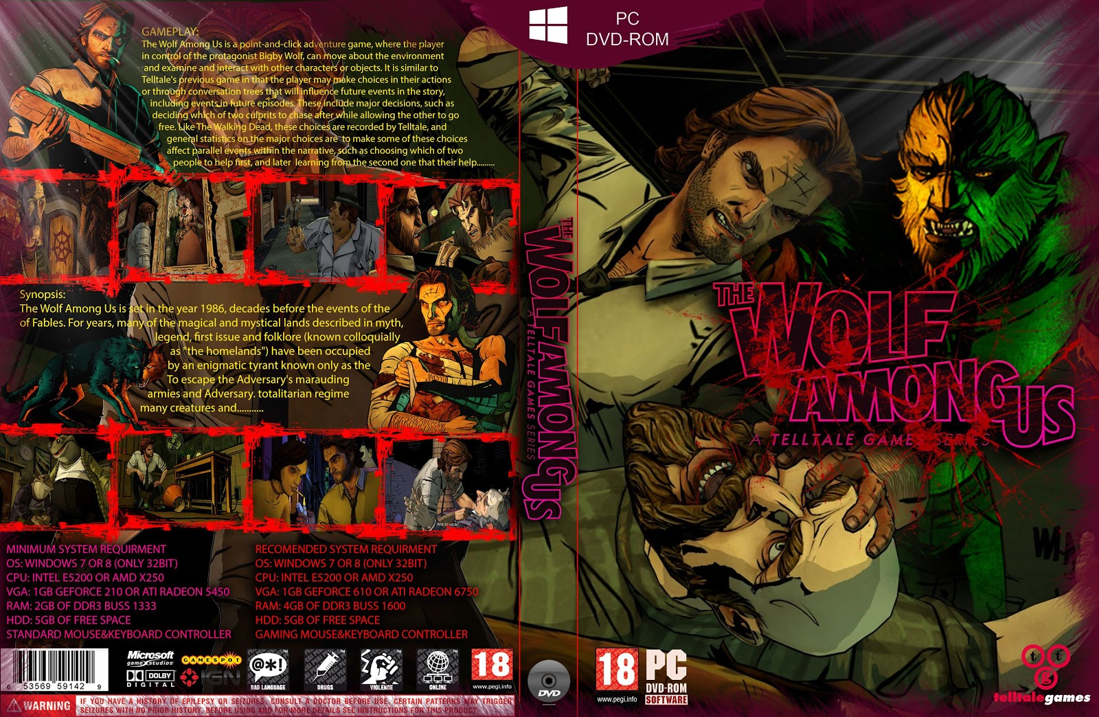 Capa The Wolf Among Us PC