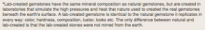 description of lab-created gemstones