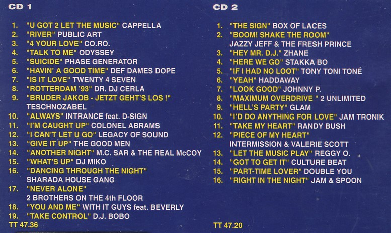 Retro disco hi nrg hit mix 39 94 2cd set 35 original for 90s house music hits