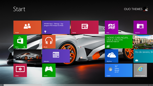 lamborghini egoista concept theme for windows 7 and 8