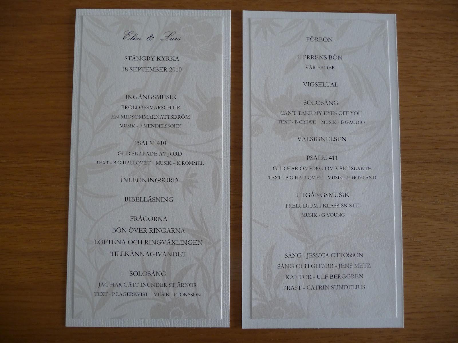 pyssel till bröllop