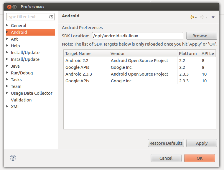 how to develop android applications with eclipse