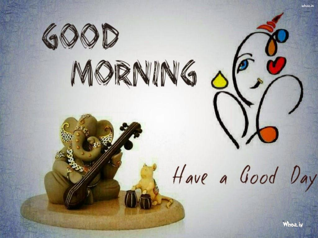 Good Morning Have a Nice Day wallpaper with Lord Ganesh