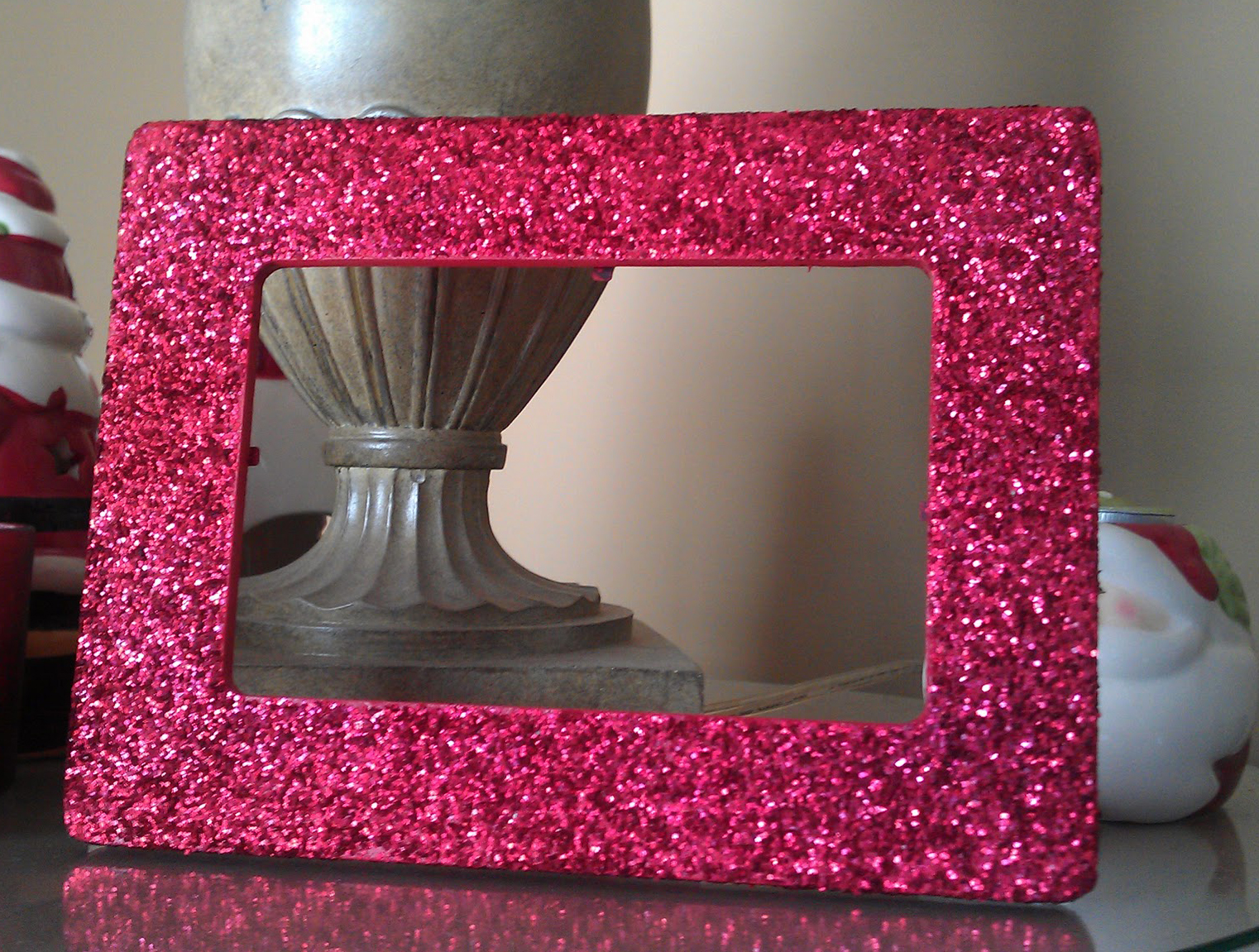 i also created a green version of these frames using a finer glitter
