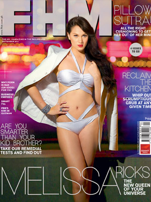 Melissa Ricks covers FHM September 2012 issue