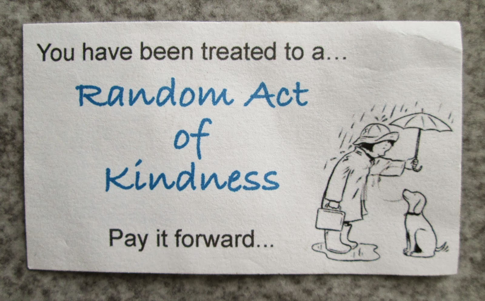 Random Acts Of Kindness Cards Random act of kindness to