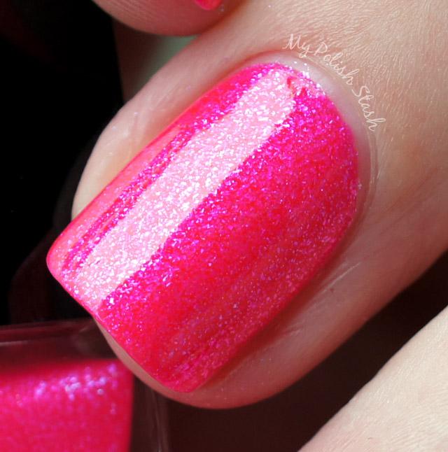hot neon pink nail polish