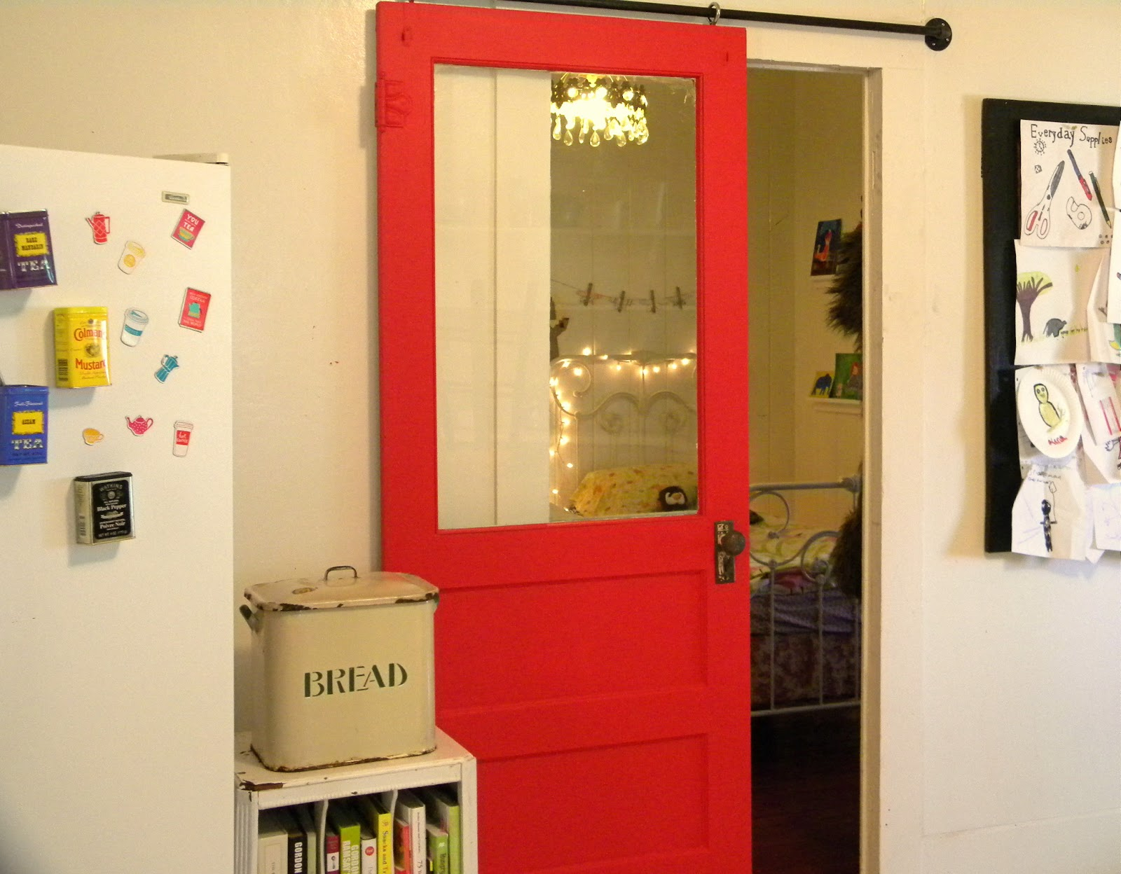 red sliding barn door. 20 Fabulous Barn Doors Perfect For Any Style And Space. Red Sliding Door D