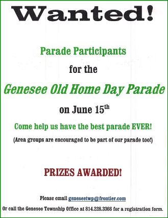 6-15 Genesee Old Home Day Parade