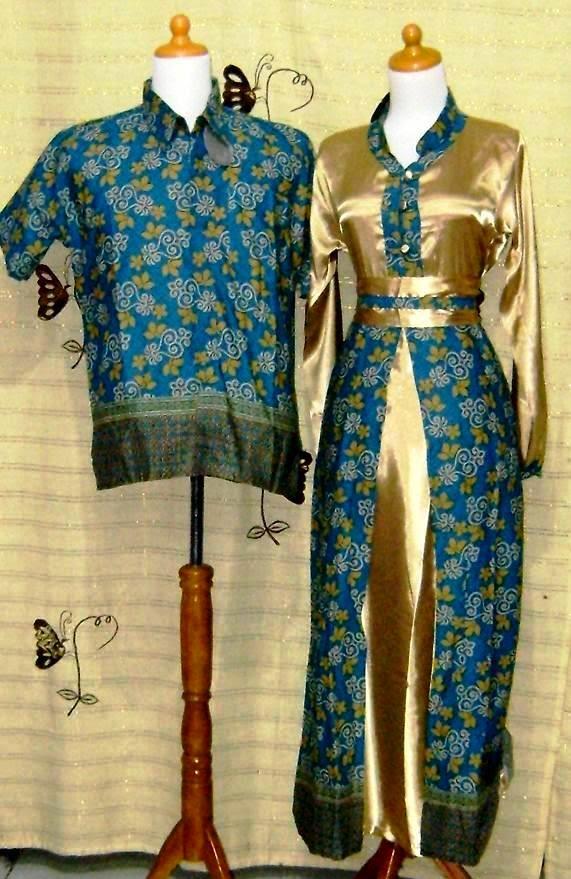 Gambar model baju batik Pasangan terbaru