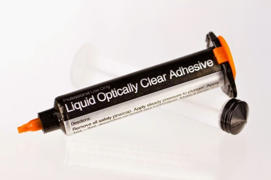 Optical liquid adhesive