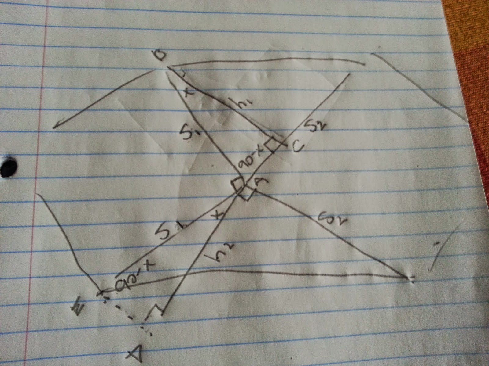 running a math club my experiences cool geometry problem let s look at the inner and lower triangle they already share a base let s pick the square sides of length