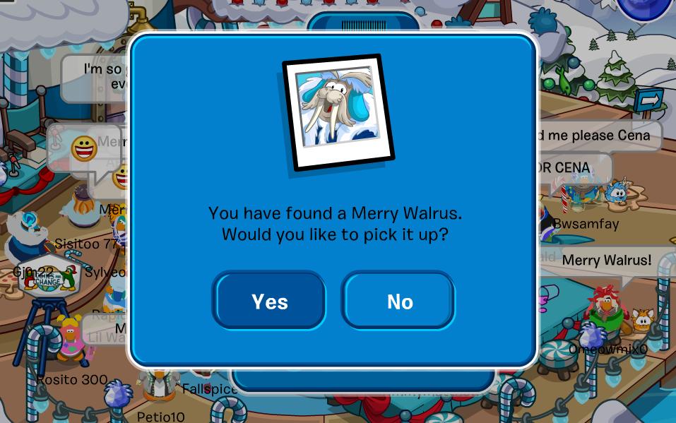 Club Penguin Merry Walrus