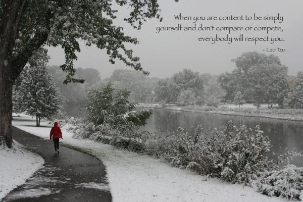 alone boy snowfall quote