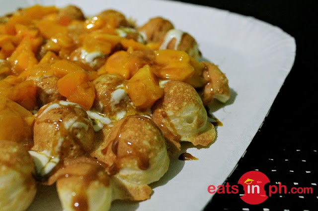Mango Caramel Waffles from Egg-it Hong Kong Style Waffles in Kapitolyo, Pasig City