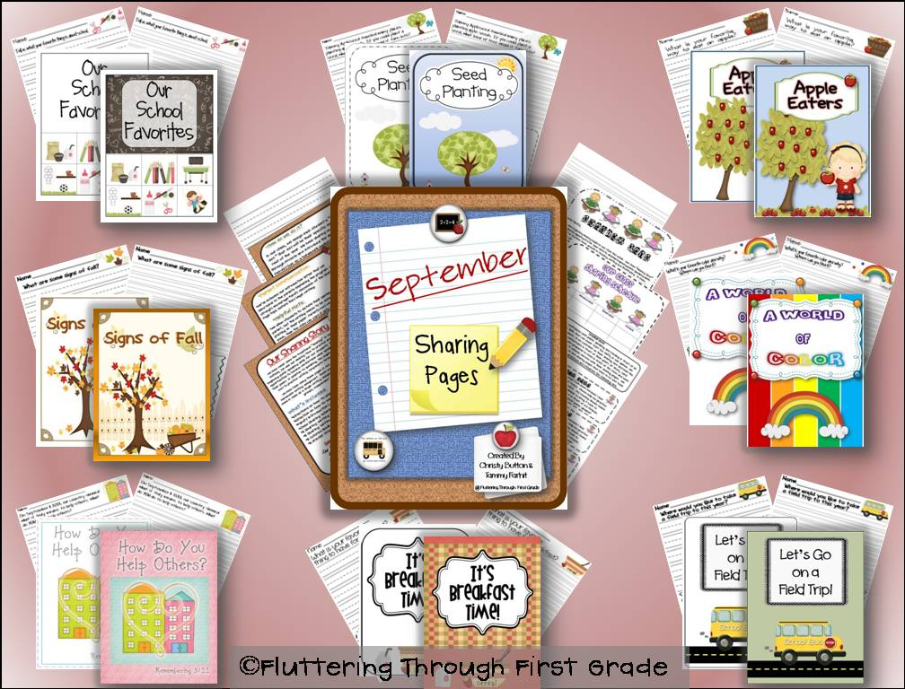 Fluttering through first grade tpt back to school sale