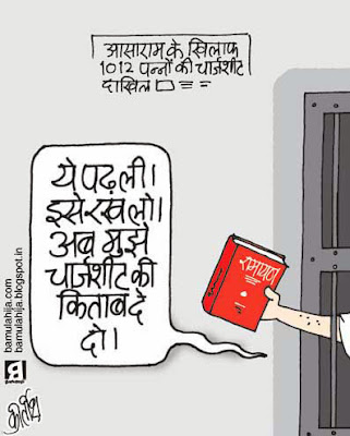 asaram bapu cartoon, crime against women, daily Humor