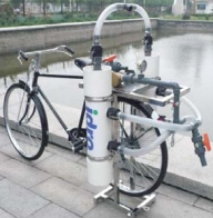water purifier in bicycle