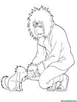 Mewarnai Gambar Kiba Inuzuka Naruto Shippuden