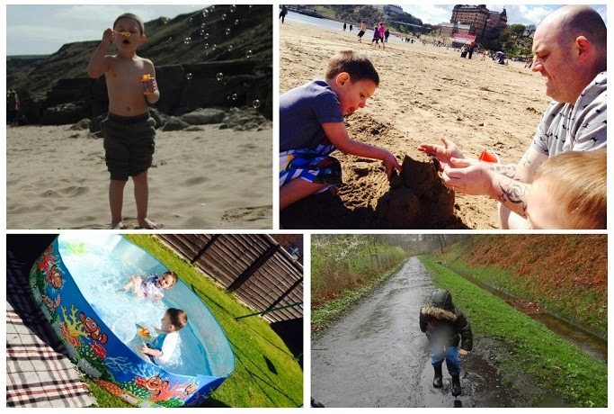 Yorkshire Blog, Mummy Blogging, Parent Blog, Cayton Bay, Scarborough, Kirkstall Abbey, Sea, Football, Chalk, Bubbles, Sandcastles,