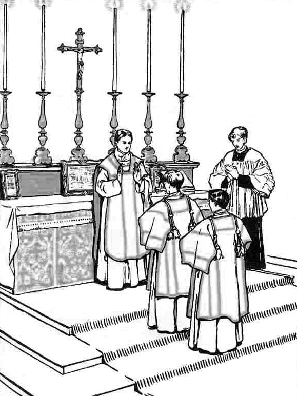 catholic coloring pages for mass - photo#25