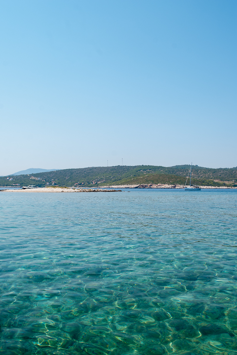 croatian waters image of a clear blue sea