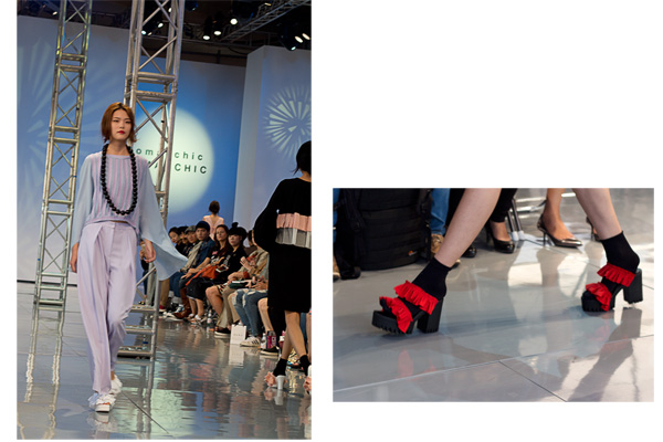 romanchic, romantic, chic, designer hye jong, seoul fashion week, sfw15, ss16, summer, spring, fashion show, seoul fashion, korean fashion, frilled shoes