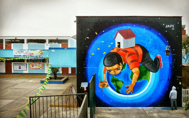 Peruvian Street Artist Jade Paints a New Mural In Barrios Altos, Lima. 1