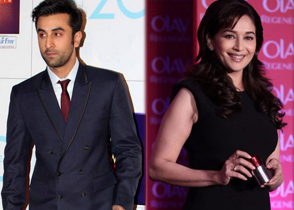 Entertainment news, Actor, Ranbir Kapoor, Besotted, Actress, Madhuri Dixit, Cajoled, Director, Ayan Mukherji, Let, Kiss, Cheek, Shooting, Item number, Upcoming, Yeh Jawaani Hai Deewani