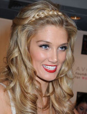 Delta Goodrem Long Braided Hairstyle