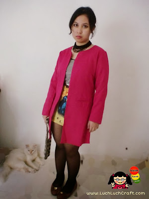 Fashion pink blazer