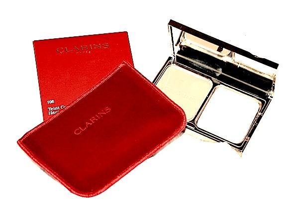 Teint COmpact Haute Tenue Clarins 108 Sand test Avant Après Avis