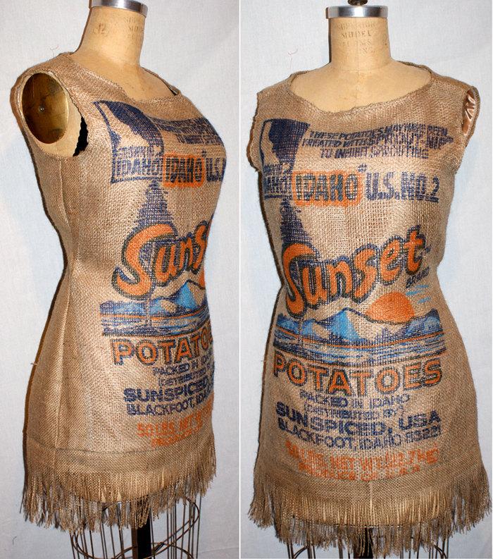 Фото платье из мешков