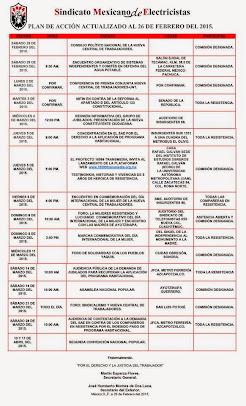 Plan de Acción Actualizado al 26 de Febrero del 2015