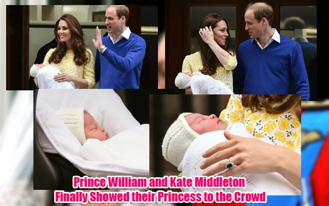 Prince William and Kate Middleton Finally Showed their Princess to the Crowd