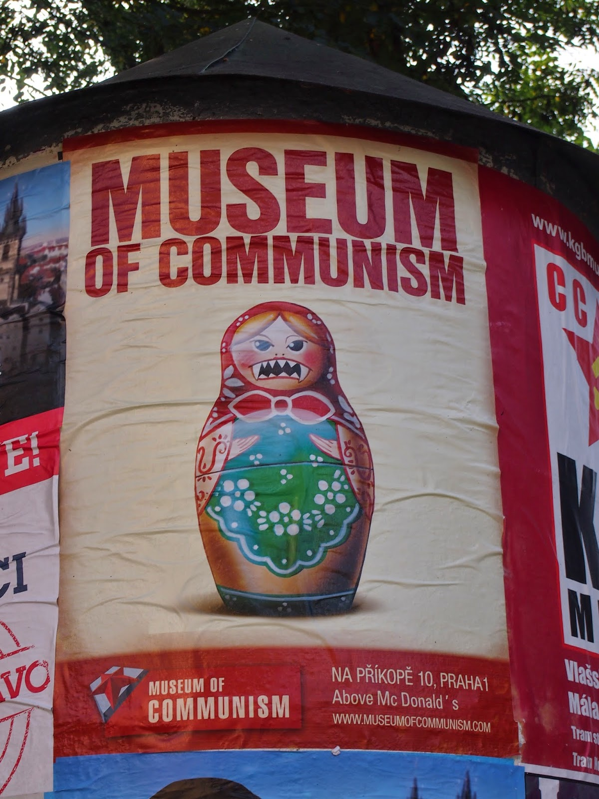 An flier for the Museum of Communism