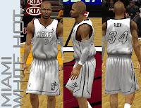 NBA 2K13 Miami Heat White Hot Jersey Patch