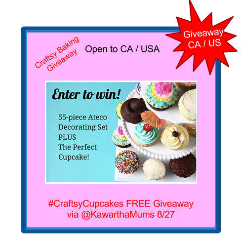 Cupcake Baking Tools Plus Class Giveaway open to Kawartha Lakes, Ontario, Canada, and USA