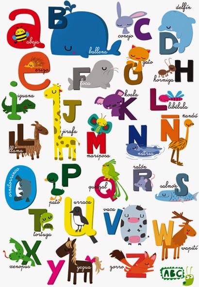 La clase de Laura  El abecedario y los animales