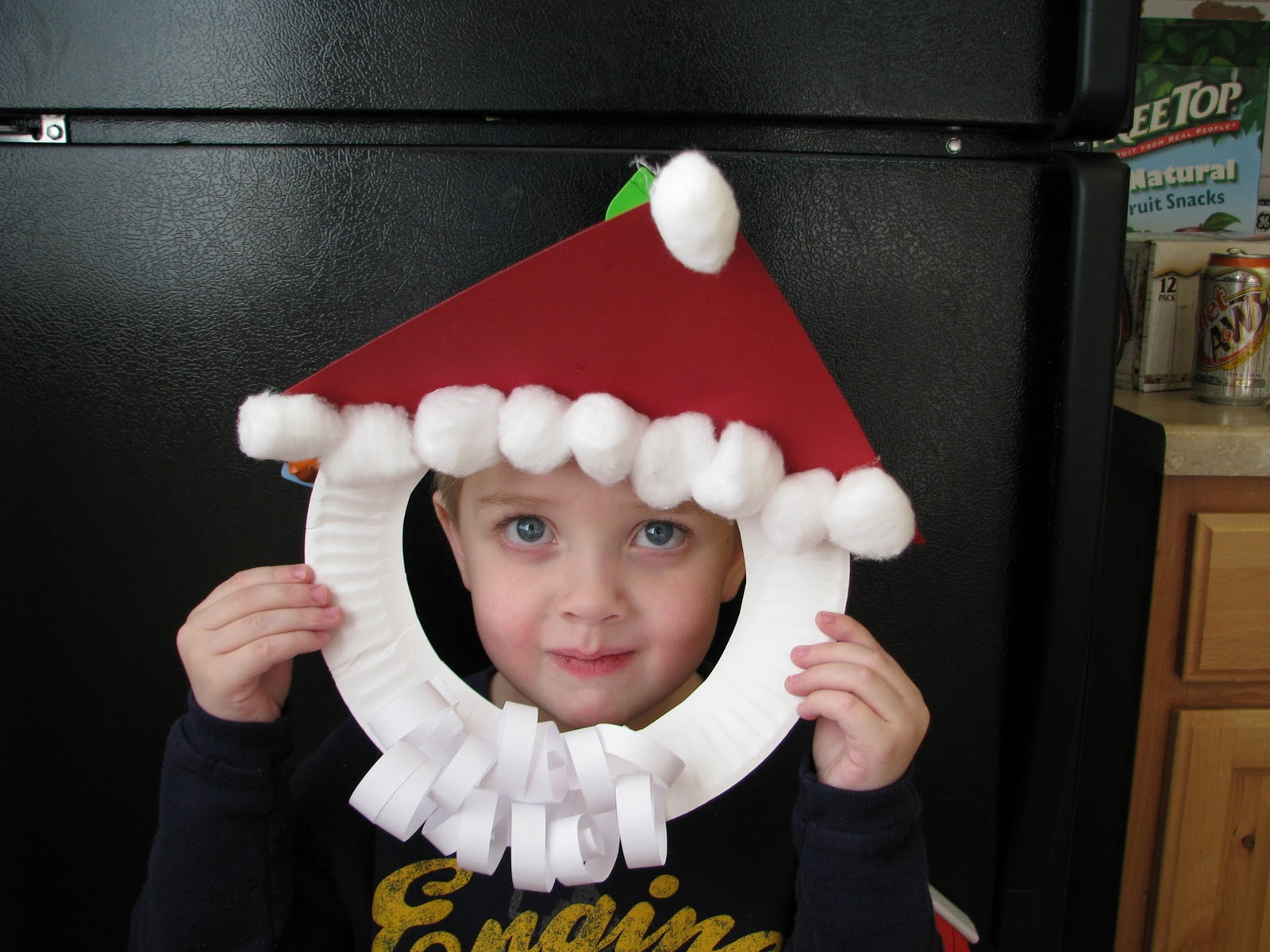 Paper Plate Santa Face Craft