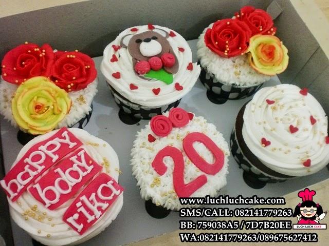 Cupcake Teddy Bear Romantis Daerah Surabaya - Sidoarjo