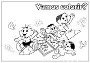 Desenho de Volta às Aulas para colorirTurma da Mônica (desenho de volta as aulas para colorir ideia criativa lindas imagens )