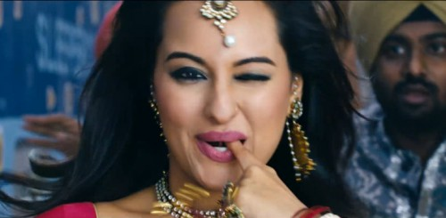 Sonakshi Sinha Wink Photos and finger on mouth