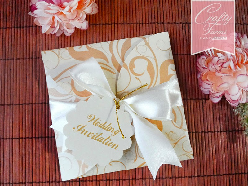 elegant and classy gold wedding petal fold card with floral printing designs