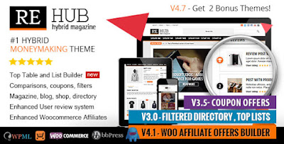 Download REHub v4.7 Directory, Shop, Coupon, Affiliate WP Theme