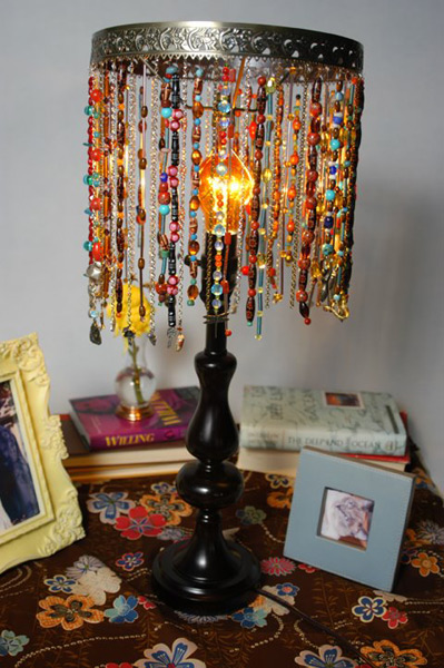Elegant Craft A Beaded Lamp. DIY From Cathiefilian