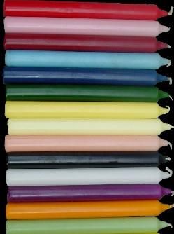 color de la velas: