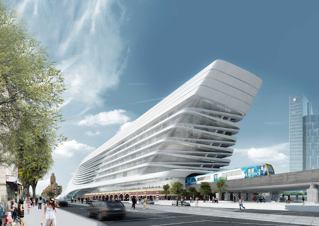 05-Flinders-Street-Station-Design-Competencia por Zaha-Hadid + BVN Architecture-