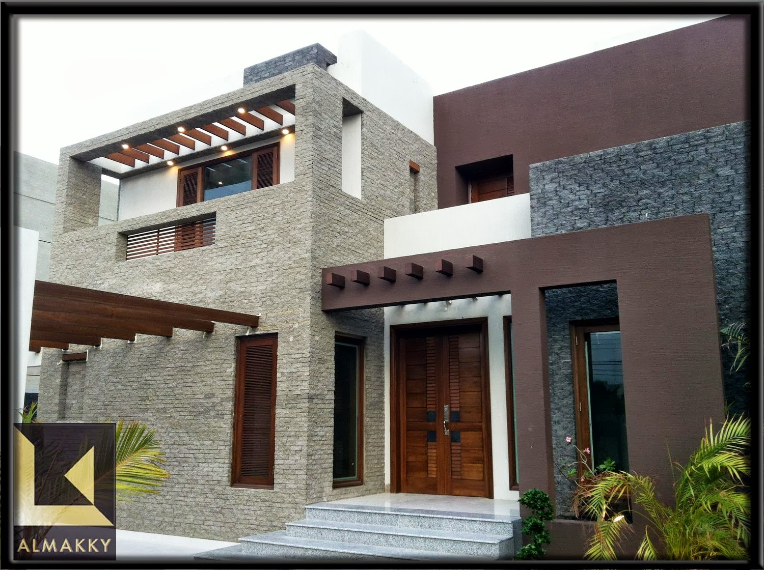 Front Elevation Of House In Karachi : Almakky builders constructed modern contemporary home